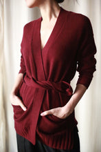 Load image into Gallery viewer, Cashmere Belted Cardigan