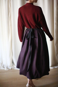 Cashmere Pleated Wrap Skirt