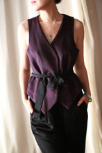 Load image into Gallery viewer, Belted Vest | Aubergine