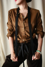 Load image into Gallery viewer, Cashmere Ribbon Shirt | Bronze