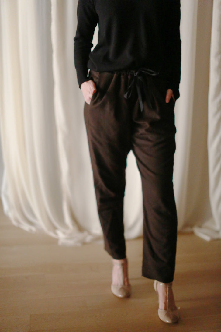 Cashmere Unisex Pants | Brown