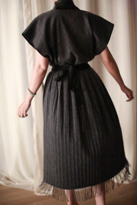 Men's Scarf Wrap Skirt | Charcoal