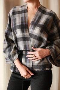 Cashmere House Blouse | Plaid