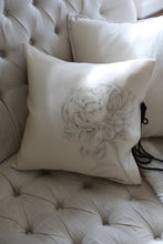 Load image into Gallery viewer, Hand Painted Silk Organza Pillow Cover