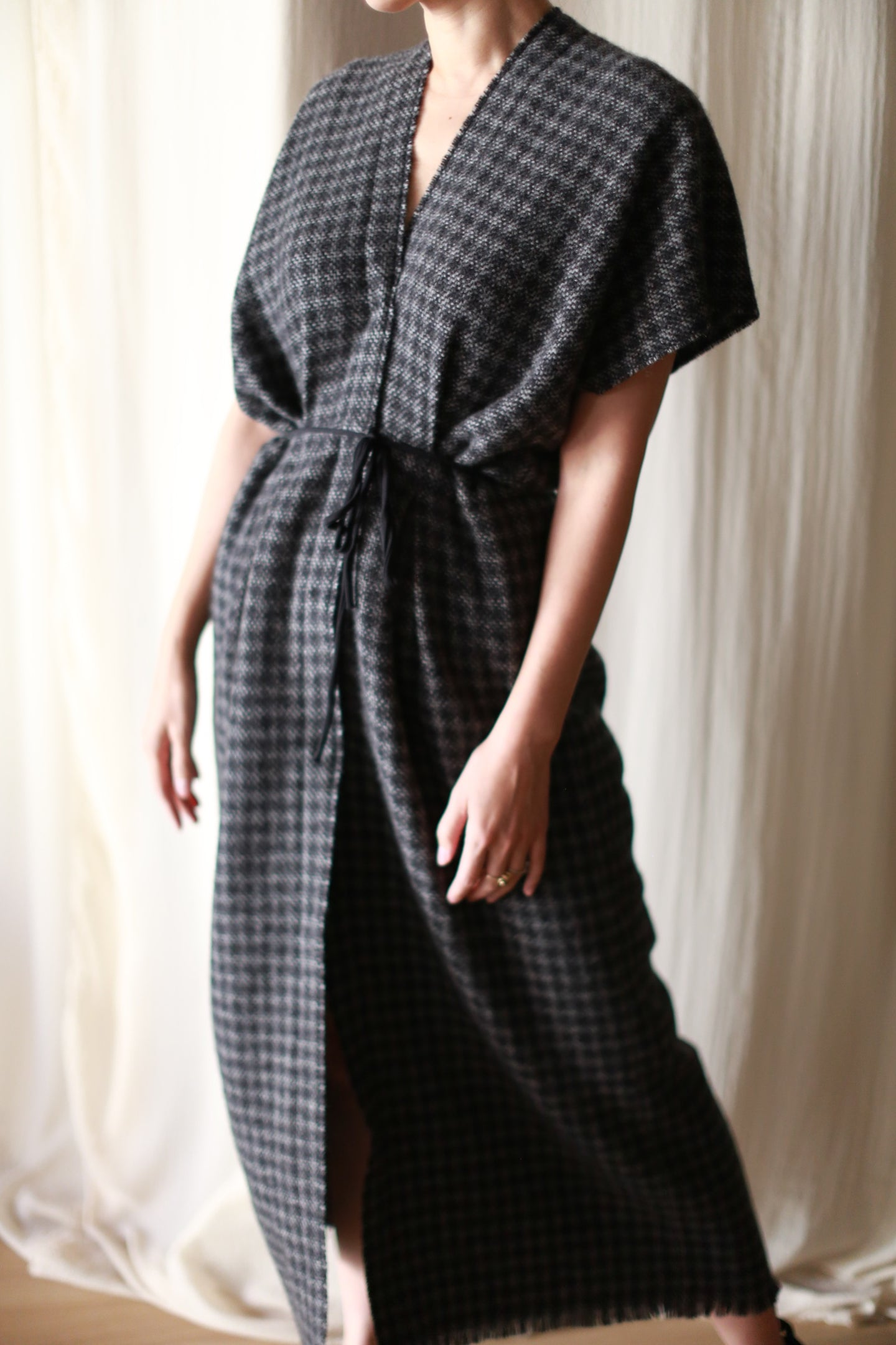 Cashmere House Dress | Houndstooth