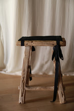 Load image into Gallery viewer, Antique Stool with Cashmere Pad