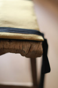 Antique Stool with Cashmere Pad