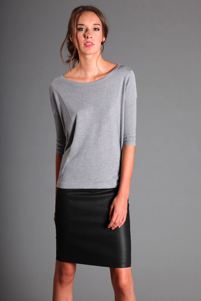 Silk Round Neck Sweater