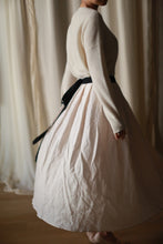 Load image into Gallery viewer, Linen Pleated Wrap Skirt