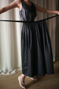 Polkadot Pleated Wrap Skirt