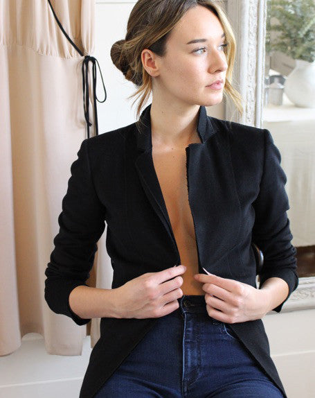 Raw Edge Blazer