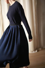 Load image into Gallery viewer, Silk Pleated Wrap Skirt