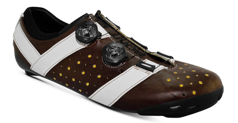 Bont Road Shoes Vaypor + Brown/White