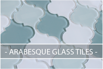 arabesque glass tiles