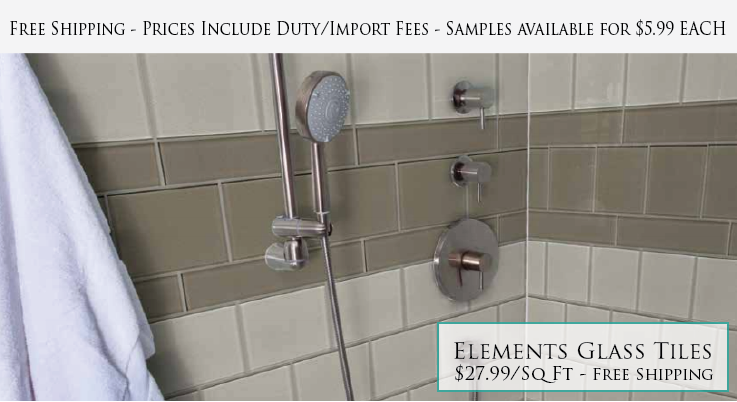 Elements X And X Glass Subway Tiles Rocky Point Tile Glass - 4 x 6 tile shower