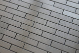 Stainless Steel 1x4 Brick Mosaic Tiles - Rocky Point Tile - Glass and Mosaic Tile Store