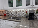 New Amsterdam Brushed Aluminum 2 Inch Hexagon Mosaic Tiles - Rocky Point Tile - Glass and Mosaic Tile Store