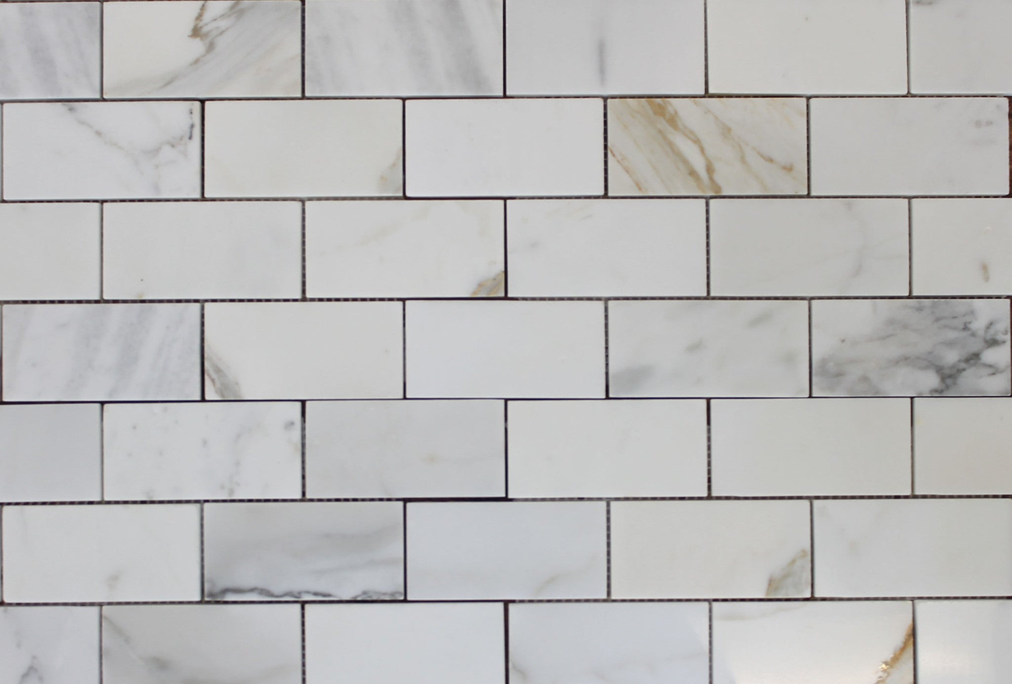 2 X 4 Calacatta Gold Polished Marble Subway Mosaic Tiles
