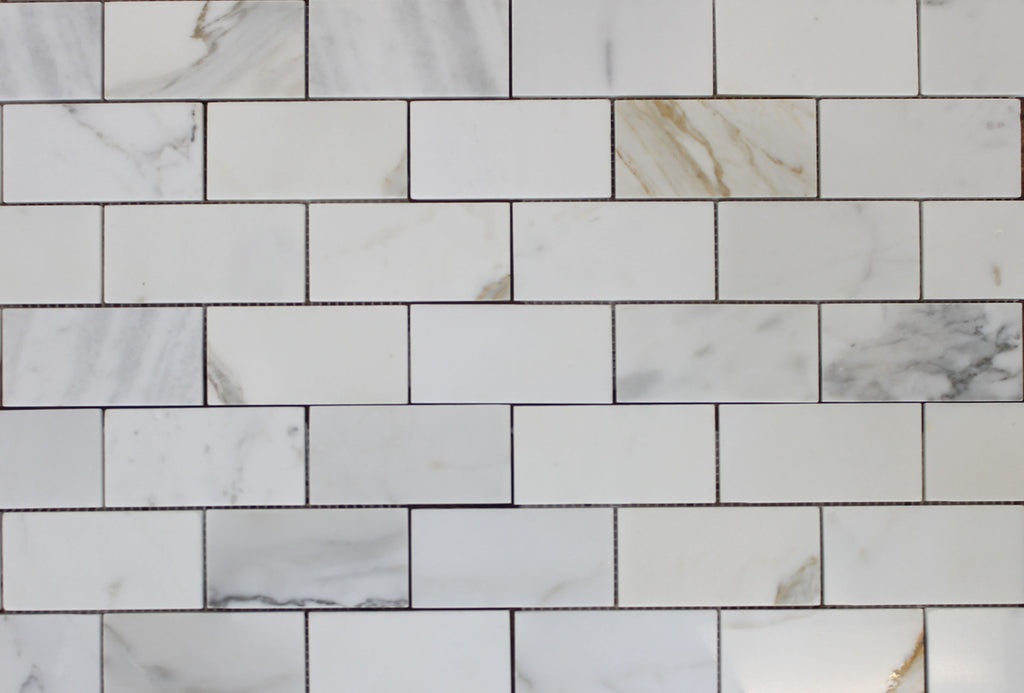 2 x 4 Calacatta Gold Marble Subway Tiles - Rocky Point Tile - Glass and Mosaic Tile Store