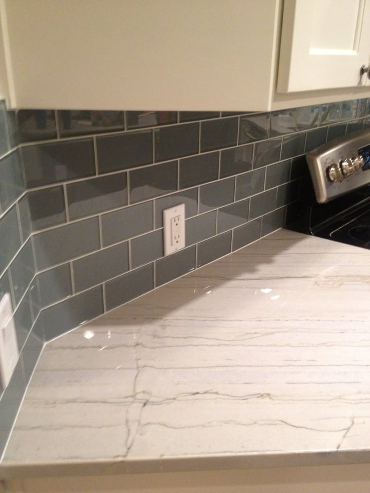 Chimney Smoke Gray 3x6 Glass Subway Tiles Rocky Point