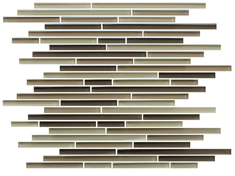 Baja Brown Linear Glass Mosaic Tile - Rocky Point Tile - Glass and Mosaic Tile Store