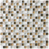 Bliss Bamboo Stone and Glass Square Mosaic Tiles - Rocky Point Tile - Glass and Mosaic Tile Store