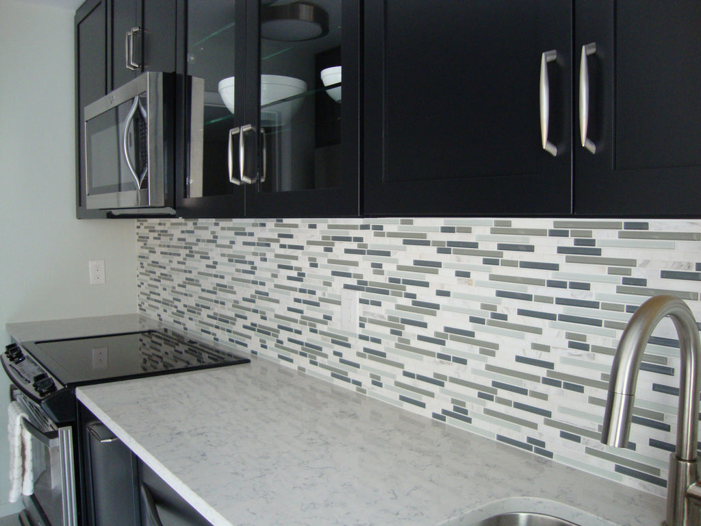 - Bliss Iceland Stone And Glass Linear Mosaic Tiles – Rocky Point