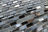 Dal Mare Lava Stone, Glass, and Shell Mosaic Tiles - Rocky Point Tile - Glass and Mosaic Tile Store