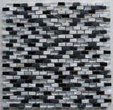 Dal Mare Tuxedo Stone, Glass, and Shell Mosaic Tiles - Rocky Point Tile - Glass and Mosaic Tile Store
