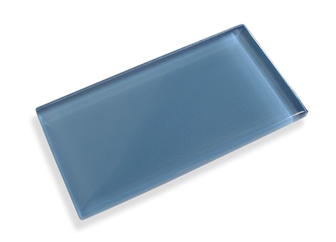 Denim Blue Made To Order Glass Subway Tiles - Rocky Point Tile - Glass and Mosaic Tile Store
