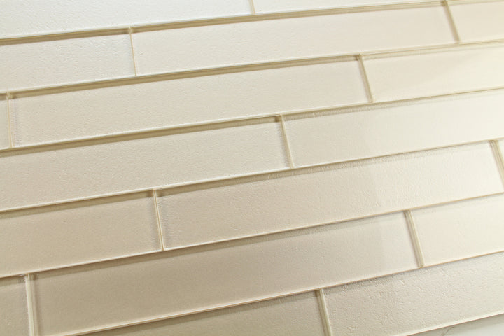Elements Sand 2x12 Glass Subway Tiles - Rocky Point Tile - Glass and Mosaic Tile Store