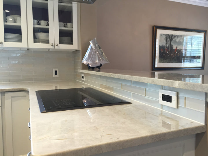 Elements Arctic 2x12 Glass Subway Tiles Rocky Point