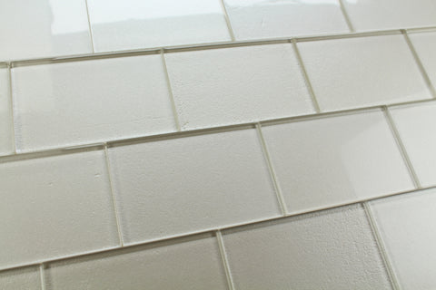 Elements Arctic 4x6 Glass Subway Tiles - Rocky Point Tile - Glass and Mosaic Tile Store