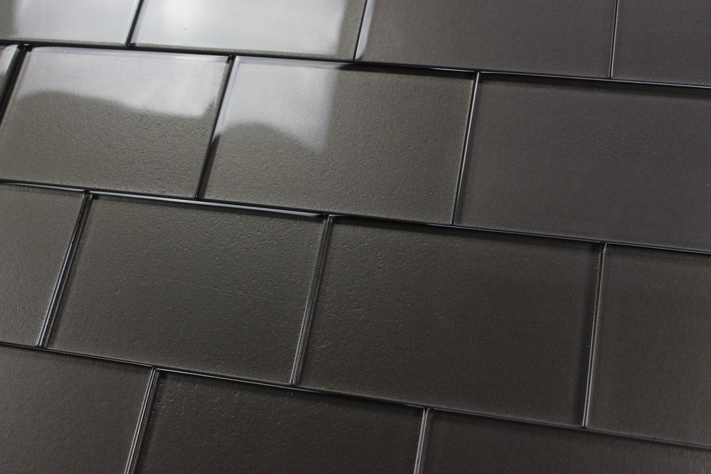 Elements Ash X Glass Subway Tiles Rocky Point Tile Glass And - 4x6 wall tile