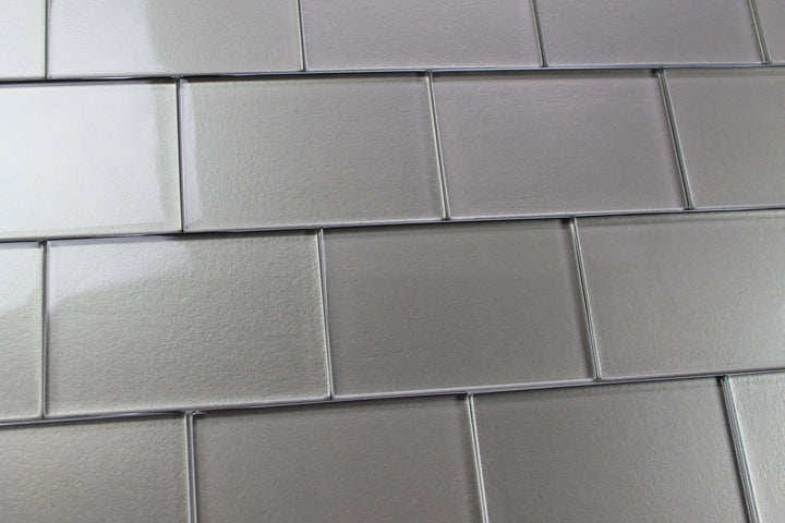 Elements Forest 4x6 Glass Subway Tiles Rocky Point Tile
