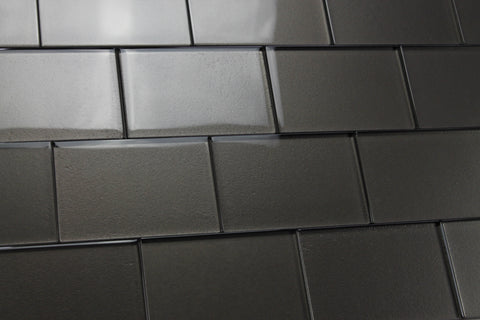 Elements Ash 4x6 Glass Subway Tiles - Rocky Point Tile - Glass and Mosaic Tile Store