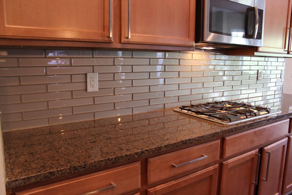 Elements Coral 2x12 Glass Subway Tiles - Rocky Point Tile - Glass and Mosaic Tile Store