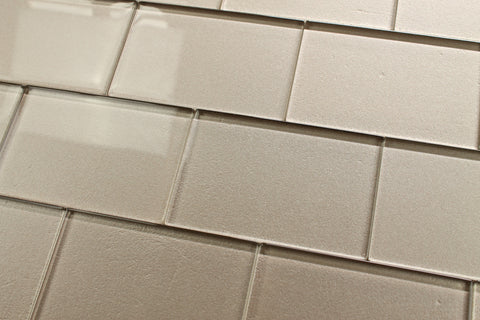 Elements Coral 4x6 Glass Subway Tiles - Rocky Point Tile - Glass and Mosaic Tile Store