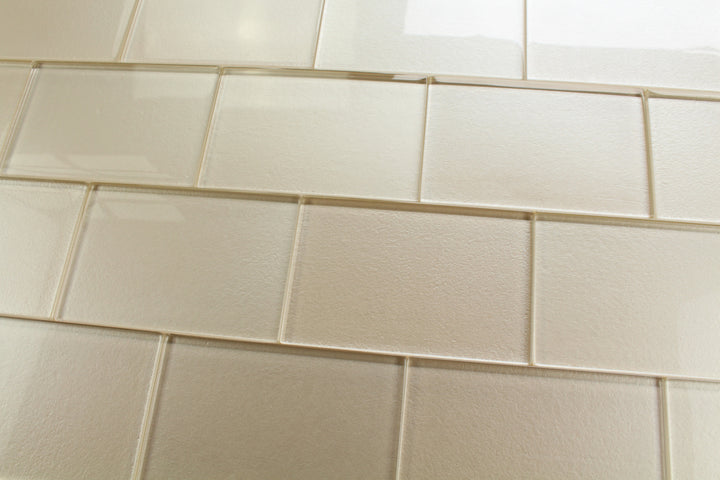 Elements Sand 4x6 Glass Subway Tiles - Rocky Point Tile - Glass and Mosaic Tile Store