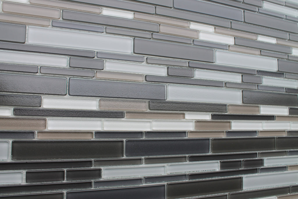 Feel Series Argento Textured Strip Mosaic Tiles - Rocky Point Tile - Glass and Mosaic Tile Store