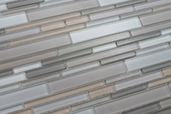 Feel Series Moka Textured Strip Mosaic Tiles - Rocky Point Tile - Glass and Mosaic Tile Store