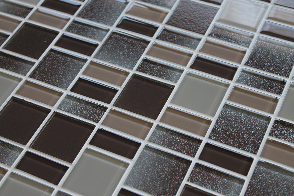 Fusion Brown Glass Mosaic Tiles Rocky Point Tile Glass