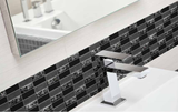 Sparkle Black Glass Mosaic Subway Tiles - Rocky Point Tile - Glass and Mosaic Tile Store