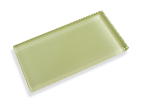Honeydew Made To Order Glass Subway Tiles - Rocky Point Tile - Glass and Mosaic Tile Store