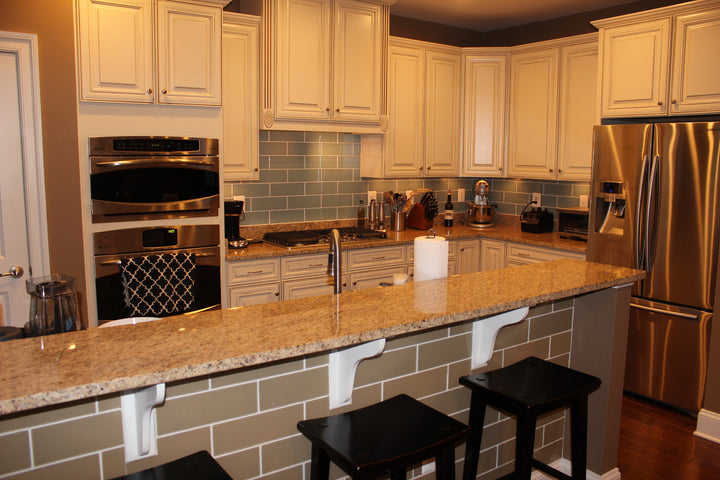 Manhattan Taupe Brown 4x12 Glass Subway Tiles Rocky