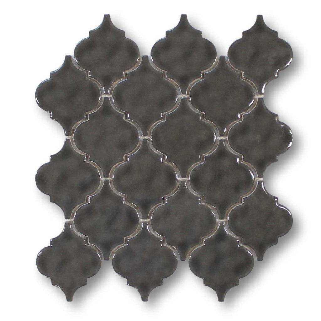 Ash Ceramic Arabesque Mosaic Tiles