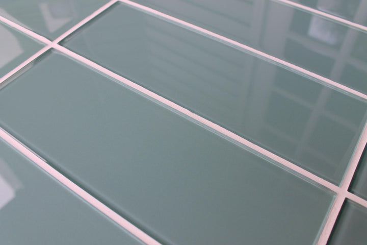 Seaside Blue 4x12 Glass Subway Tiles Rocky Point Tile