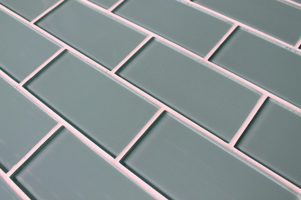 Seaside Blue 3x6 Glass Subway Tiles - Rocky Point Tile - Glass and Mosaic Tile Store