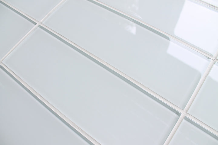 ... Snow White 4x12 Glass Subway Tiles - Rocky Point Tile - Glass and  Mosaic Tile Store ...