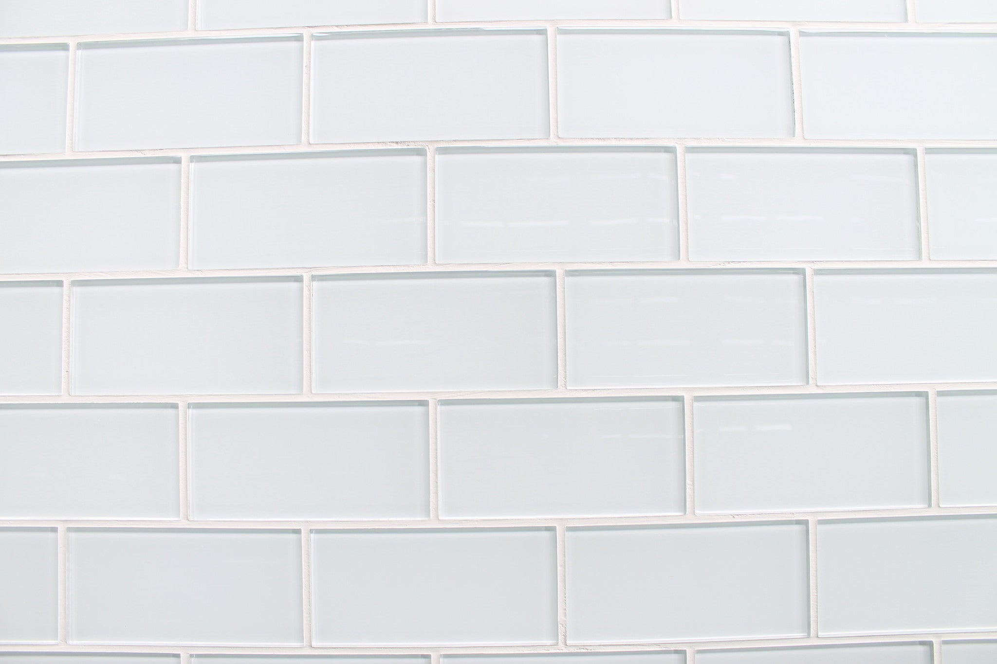 Snow white 3x6 glass subway tiles rocky point tile White subway tile